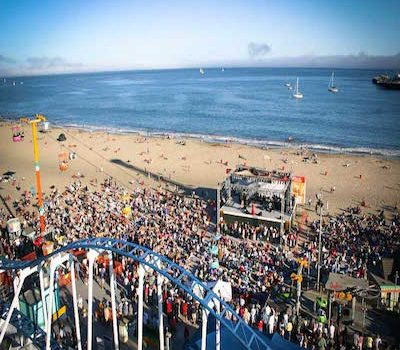 Santa Cruz Beach Boardwalk Friday Night Bands on the Beach