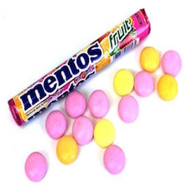 mentos fruit candy