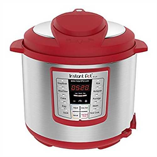 Instant Pot Lux 6-Quart Red 6-in-1 Multi-Use Electric Pressure Cooker